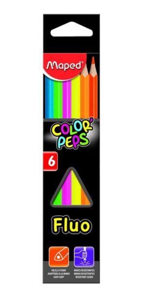 Oferta de Lapices De Colores Fluo X 6 Maped - Mm por $350