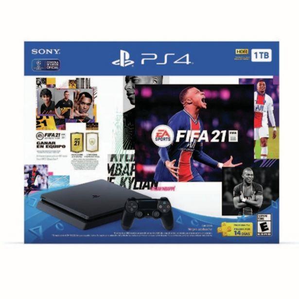 Oferta de PLAY STATION PS4 SLIM, 1 TB + FIFA 21 BUNDLE, 1 JOYSTICK por $81599