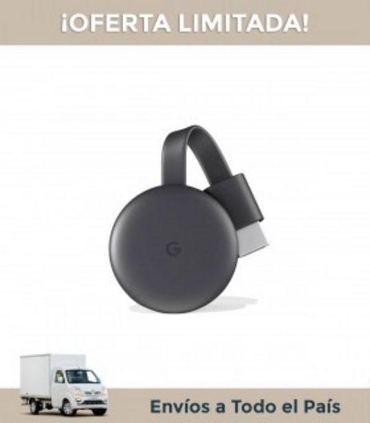 Oferta de Chromecast 3 Google, Netflix, You Tube, Spotify por $8903