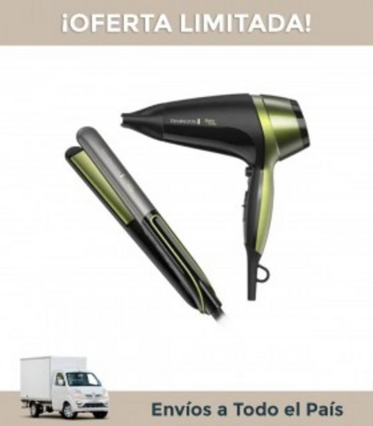 Oferta de Combo Remington Seca.de Cab.s12a+ Pla.cab.d13a-a Shine Therapy Aguacate por $7999