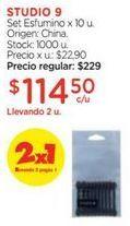 Oferta de Set Esfumino x 10 u. por $114,5