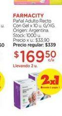 Oferta de FARMACITYPañal Adulto Recto Con Gel x 10 u. por $169,5