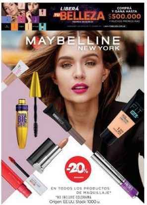 Oferta de Maquillaje Maybelline por