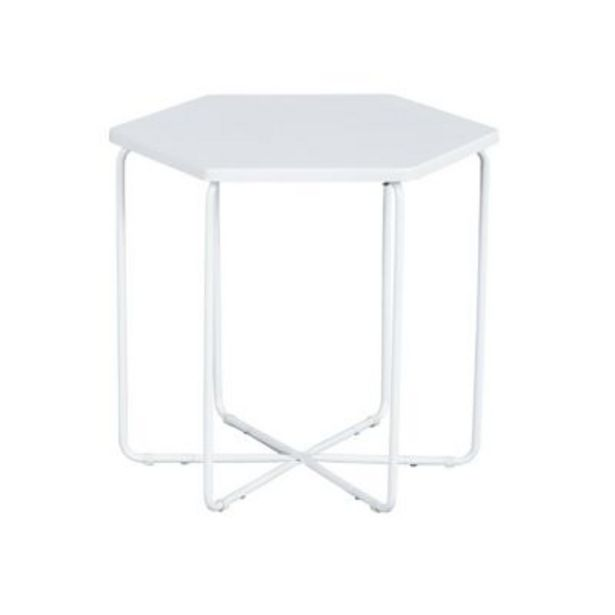 Oferta de Mesa de comedor Colmena blanca - Just Home Collection por $3299