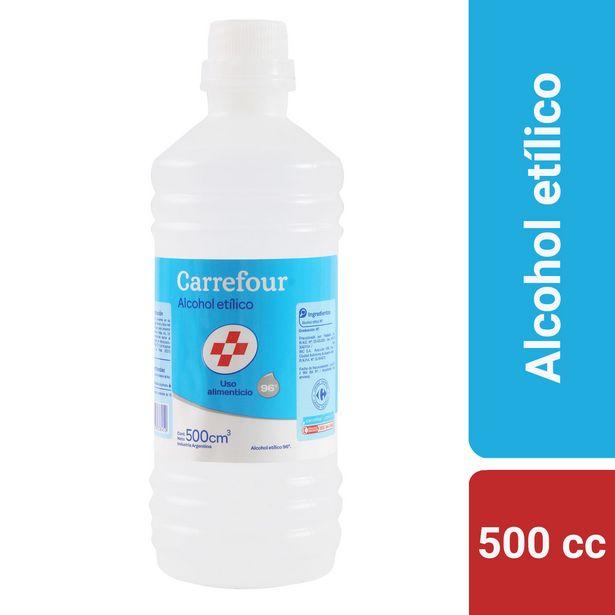 Oferta de Alcohol etilico Carrefour 500 cc. por $123,76