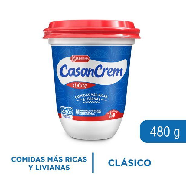 Oferta de Queso crema entero Casancrem pote 480 g. por $347,1