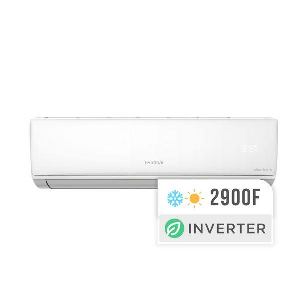 Oferta de Aire acondicionado split Hyundai inverter frío/calor 3400W HY6INV-3200FC por $57999
