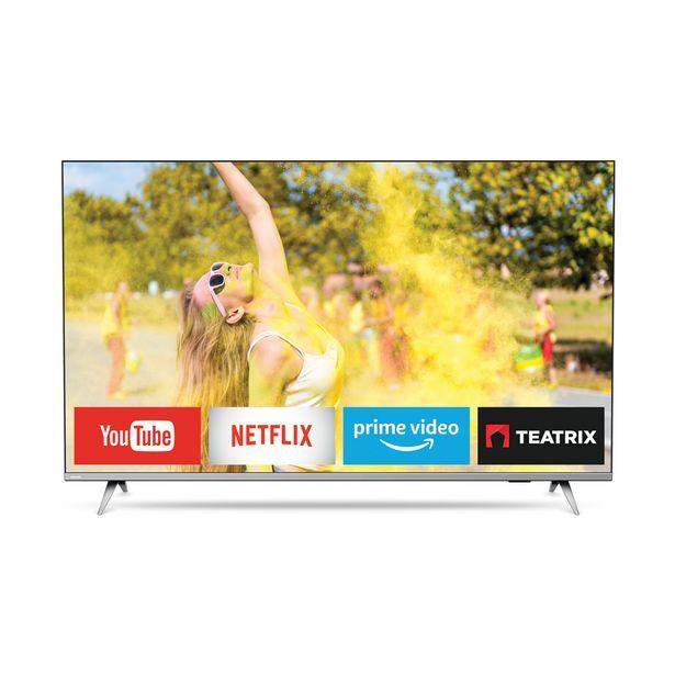 "Oferta de Smart TV Philips 50"" Ultra HD 4K 50PUD6654 por $64782"