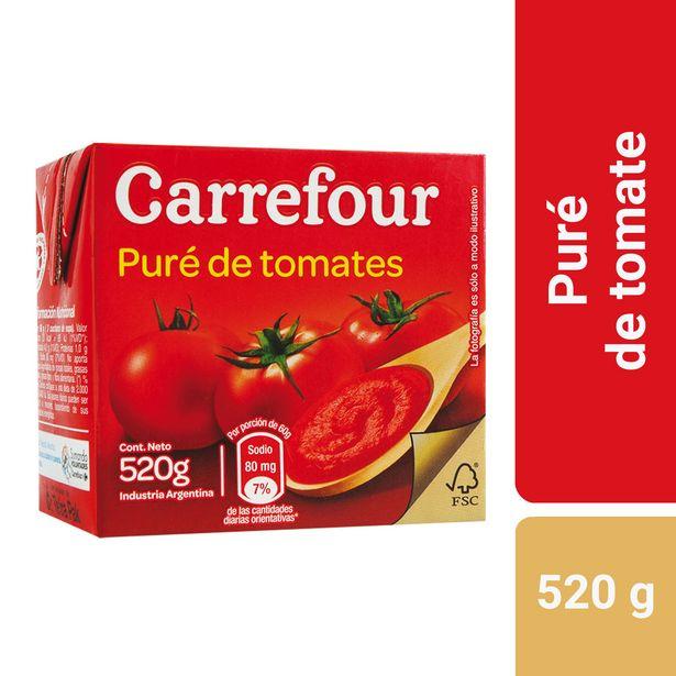 Oferta de Puré de tomate Carrefour 520 g. por $52,78