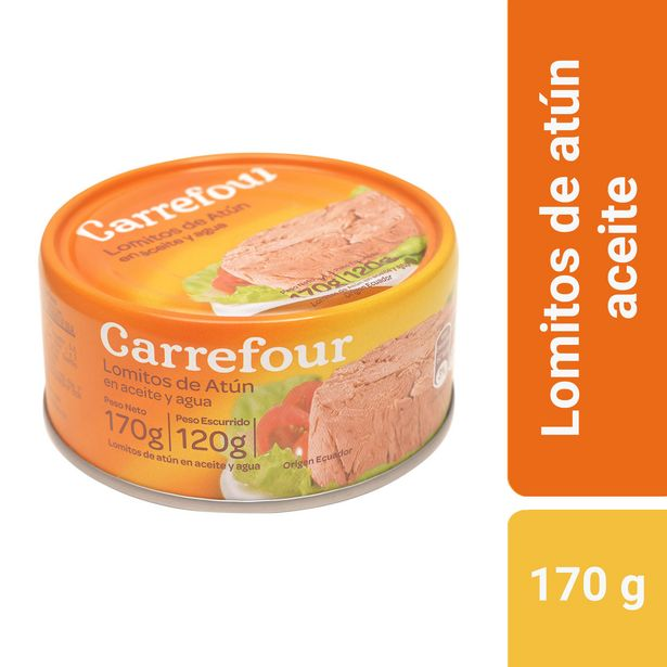 Oferta de Lomitos de atún Carrefour en aceite 170 g. por $134,1