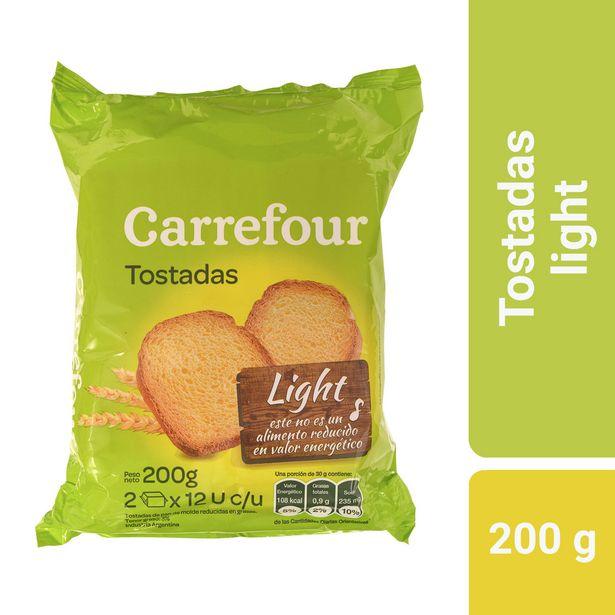 Oferta de Tostadas light Carrefour 200 g. por $82,81