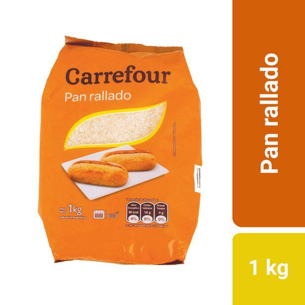 Oferta de Pan rallado Carrefour 1 kg. por $123,3
