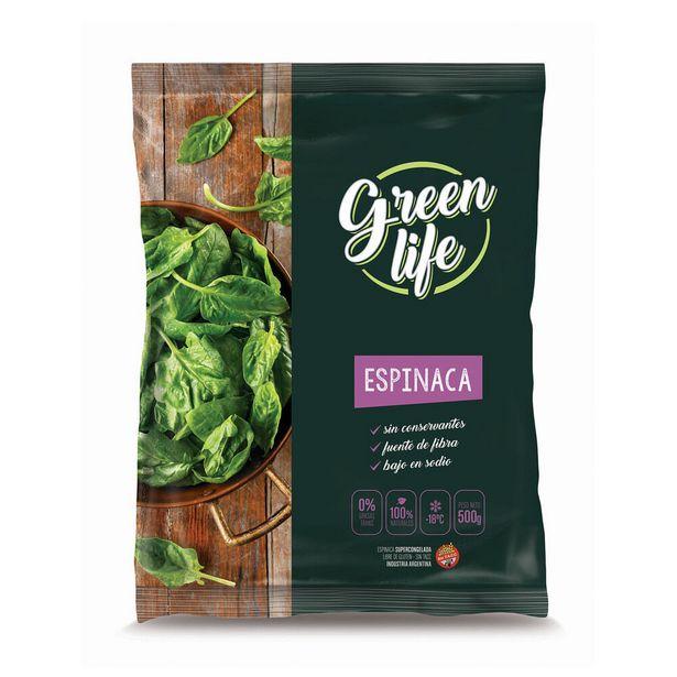 Oferta de Espinaca congelada Green Life 500 g. por $282