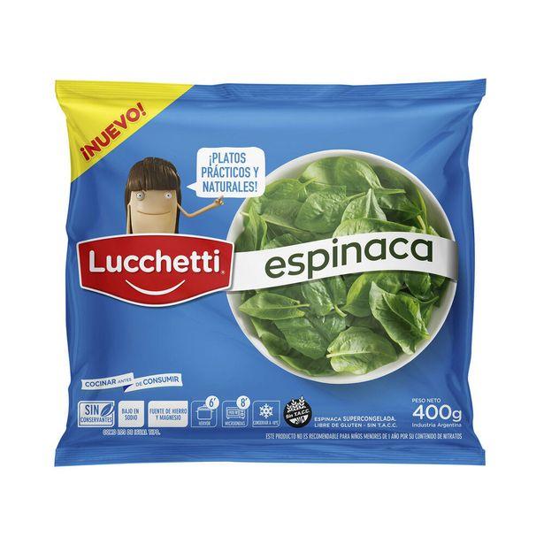 Oferta de Espinaca Lucchetti congelada 400 g. por $203,8