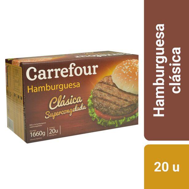 Oferta de Hamburguesa Carrefour clásica 20 u. por $1098,37