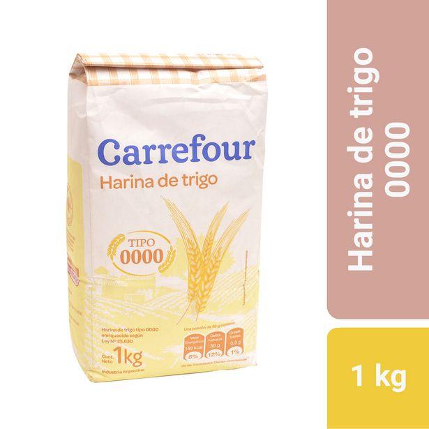 Oferta de Harina de trigo Carrefour 0000 1 kg. por $57,04