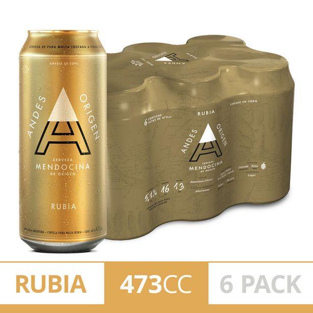 Oferta de Cerveza rubia Andes Origen 6 x 473 cc. por $690