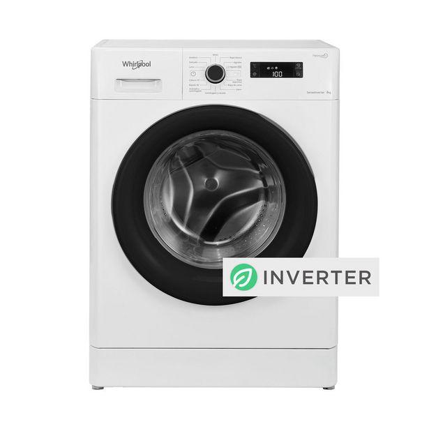 Oferta de Lavarropas Whirlpool Sense Inverter WLF80AB 8kg 1200rpm Blanco por $80799