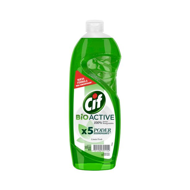 Oferta de Detergente active gel core limón verde Cif 500 cc. por $132