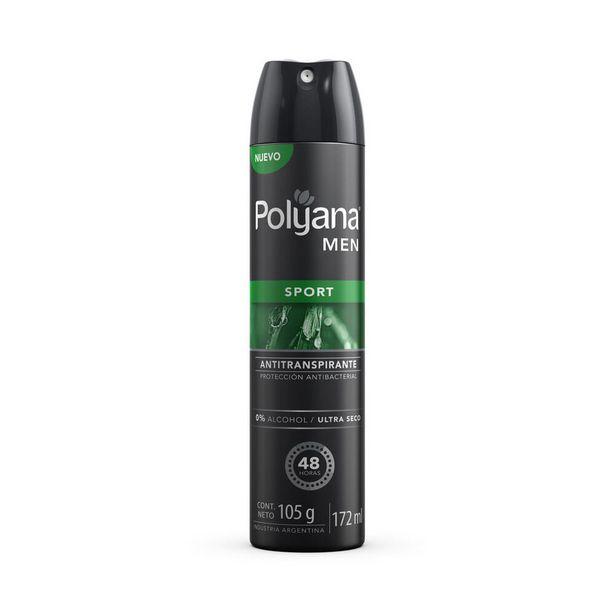 Oferta de Antitranspirante masculino sport Polyana aerosol 172 cc. por $150