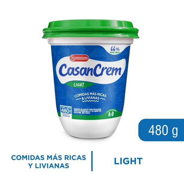 Oferta de Queso crema light Casancrem pote 480 g. por $347,1
