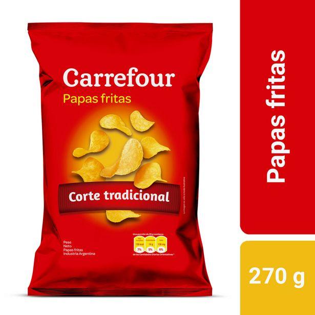 Oferta de Papas fritas Carrefour corte tradicional 270 g. por $159,25