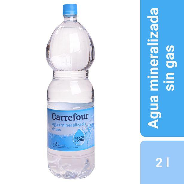 Oferta de Agua mineralizada sin gas Carrefour bajo sodio 2 l. por $42,77