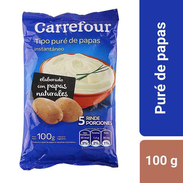 Oferta de Puré de papas instantáneo Carrefour 100 g. por $60,06