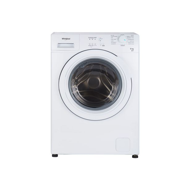 Oferta de Lavarropas Whirlpool WNQ06AB 6kg 800rpm blanco por $65999