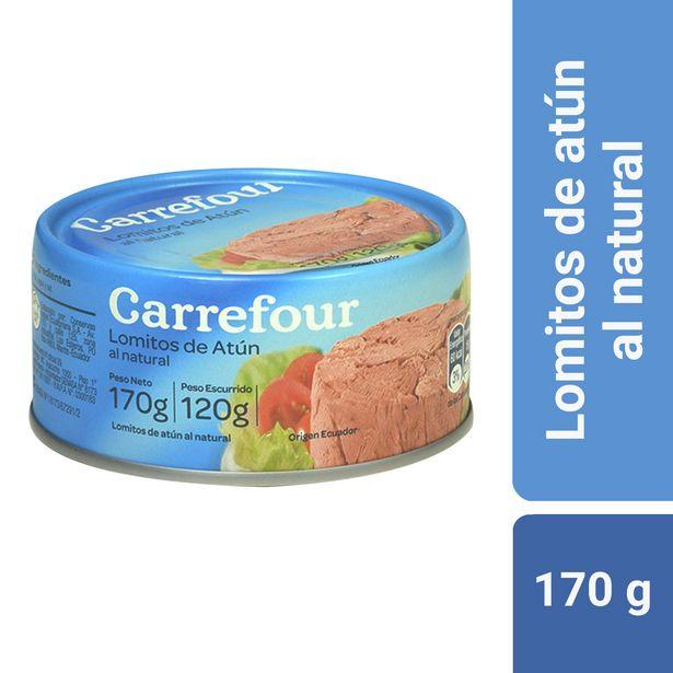 Oferta de Lomitos de atún Carrefour al natural 170 g. por $134,1