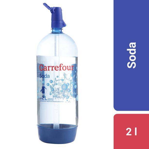 Oferta de Soda Carrefour sifón 2 l. por $80,91