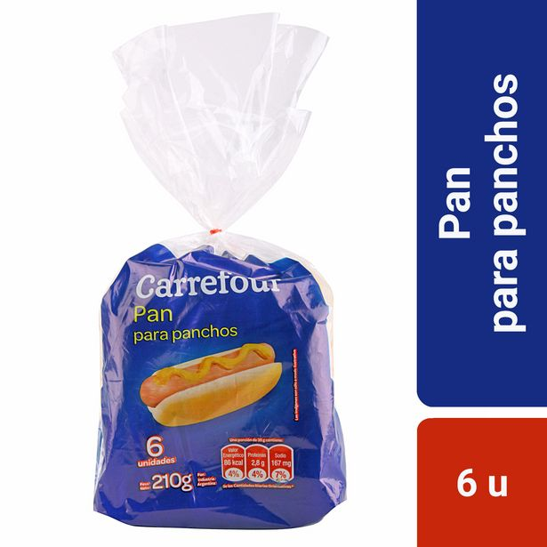 Oferta de Pan para panchos Carrefour 6 u. por $59,15