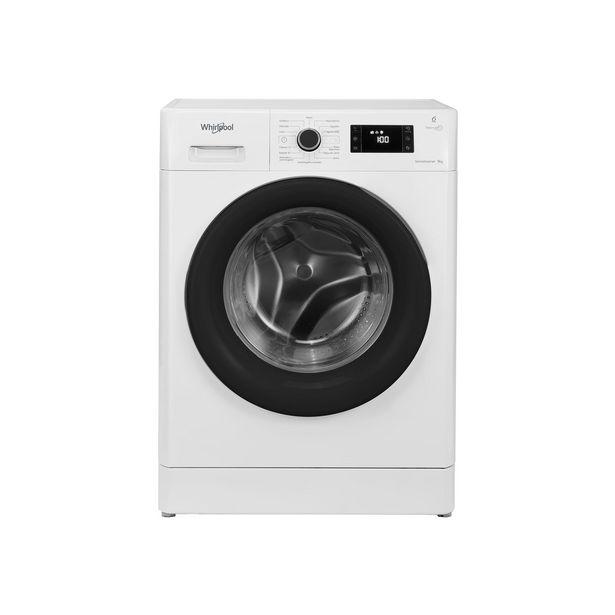 Oferta de Lavarropas Whirlpool Sense Inverter 9 Kg WLF91AB 1200rpm blanco por $86999