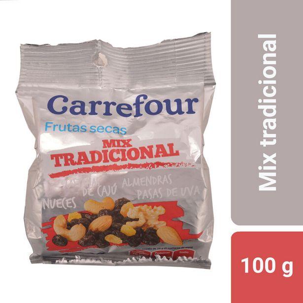Oferta de Mix de frutas secas Carrefour mix tradicional 100 g. por $129,27