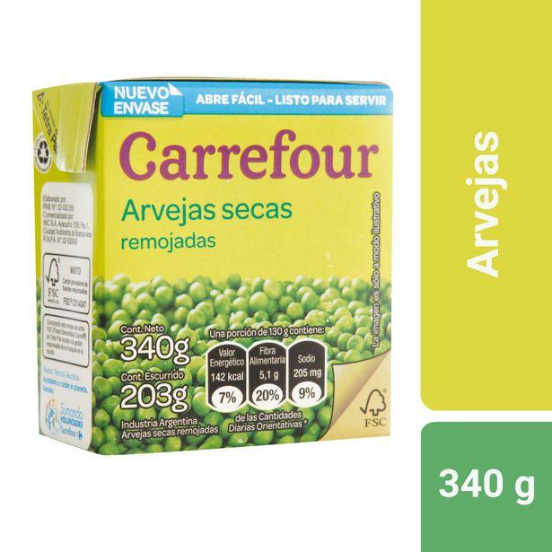Oferta de Arvejas secas remojadas Carrefour 340 g. por $40,04