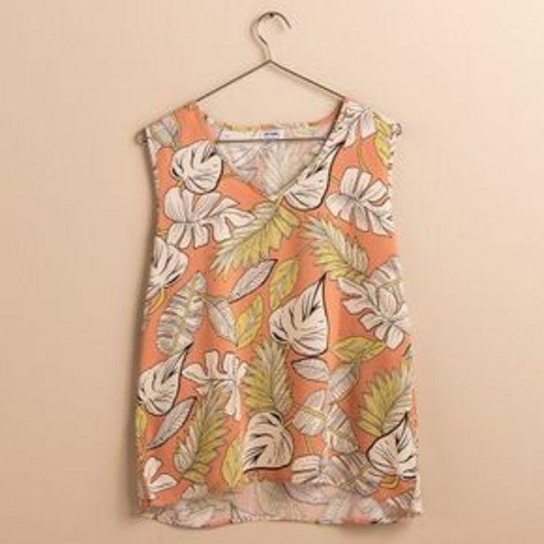 Oferta de Musculosa Camiseta Fibrana Hojas por $899,5