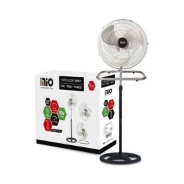 Oferta de Ventilador Industrial Mio Pared Pie Turbo 3 En 1 18 Pulgadas por $7479
