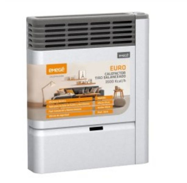 Oferta de Estufa Emege Euro 2135 TBU 3500 Kcal Multigas por $27999