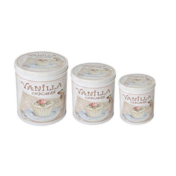 Oferta de Set X 3 Latas Redondas Vanilla Cupcakes -1- por $1066