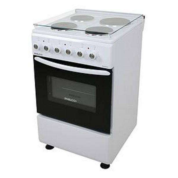 Oferta de Cocina Eléctrica Philco 50 Cm Phce051B Blanca Tapa De Vidrio ,Termostato Y Luz De Horno por $58594