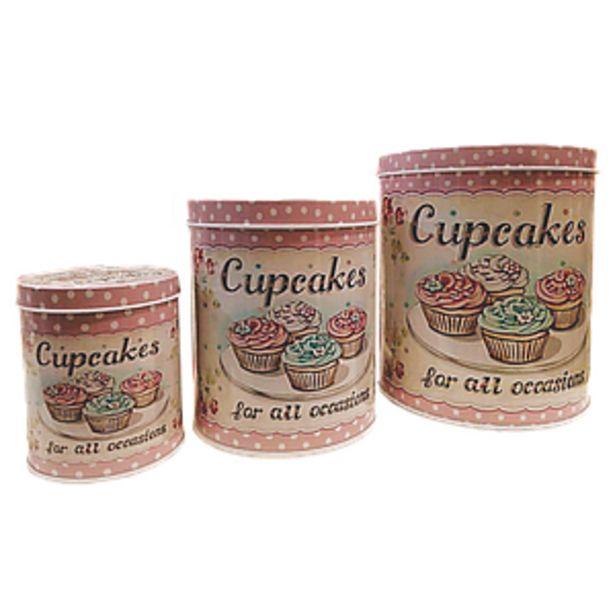 Oferta de Set X 3 Latas Redondas Cupcake For All Occasions-1- por $1066