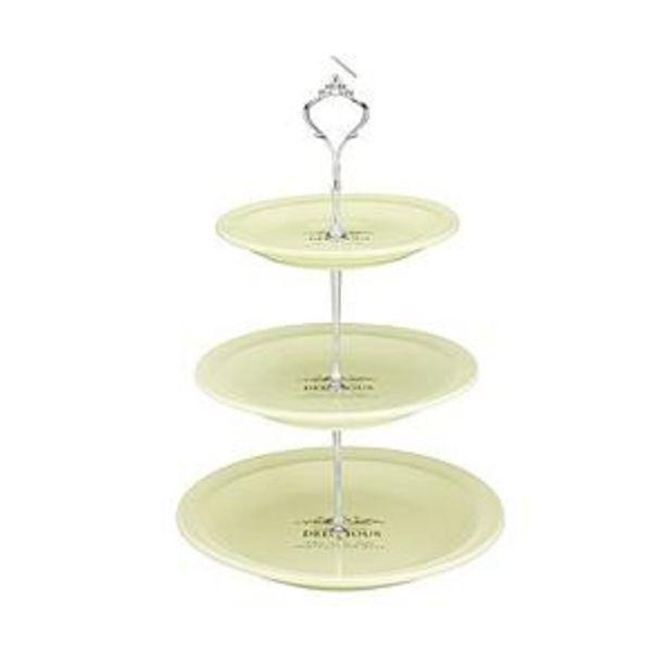 Oferta de Plato Para Masas De Tres Pisos De Ceramica Crema S18*18*2.5 M: 22*22*3 L: 26*26*3.5 por $930
