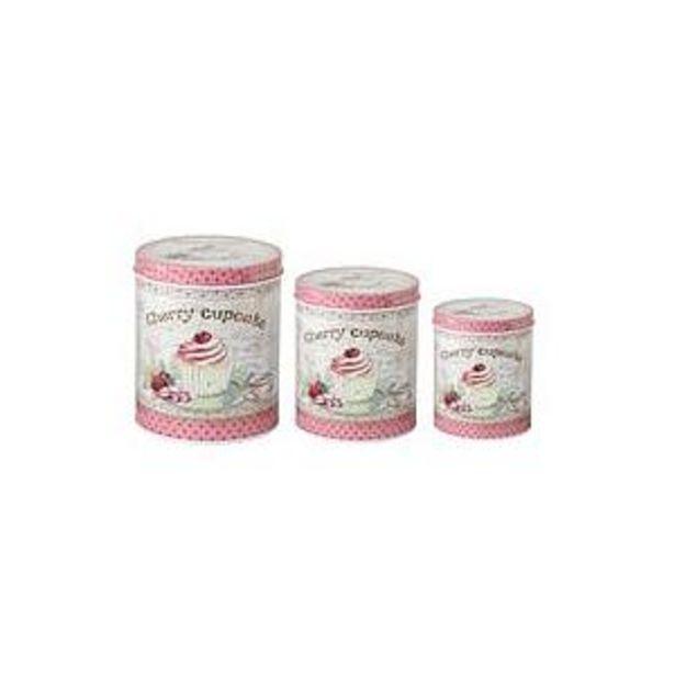Oferta de Set X 3 Latas Redondas Cherry Cupcake -1- por $1066