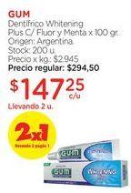 Oferta de Dentífrico Whitening Plus C/ Fluor y Menta x 100 gr. por $294,5