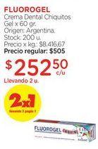 Oferta de Crema Dental Chiquitos Gel x 60 gr. por $505