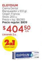 Oferta de Crema Dental Blanqueador x 100 gr. por $809