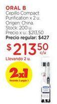 Oferta de Cepillo Compact Purification x 2 u. por $427