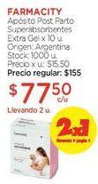 Oferta de Apósito Post Parto Superabsorbentes Extra Gel x 10 u. por $155