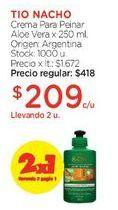 Oferta de Crema Para Peinar Aloe Vera x 250 ml. por $418