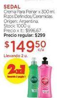 Oferta de Crema Para Peinar x 300 ml. por $299